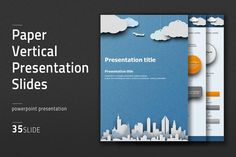 Paper Vertical Presentation Slides by Good Pello on @creativemarket