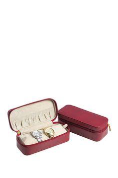 Red Lizard Leather Watch  Case on @HauteLook