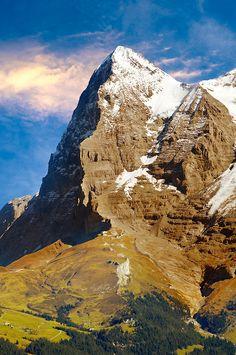 The Eiger North Face from Murren - Alps Switzerland