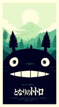 My Neighbor Totoro. I love the idea of combining Totoro with the scenery!