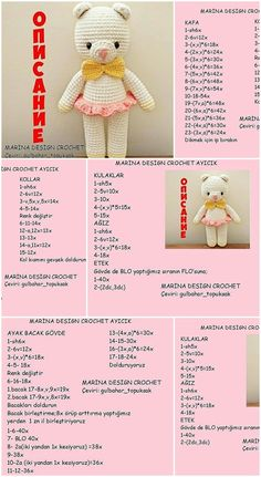 Amigurumi free toy models I share with you. Free amigurumi doll and animal crochet patterns are waiting for you. Crochet Teddy Bear Pattern, Crochet Amigurumi Free Patterns, Crochet Animal Patterns, Crochet Doll Pattern, Crochet Bear, Free Crochet, Amigurumi Doll, Cuddle, Diy Crafts