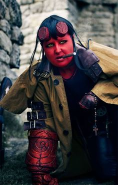 Hellboy's daughter... #Cosplay #Hellboy #CosmicWorkshop #JulieMorrisroe #BigRedApeCosplay