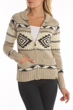 Motif Sweater Cardigan