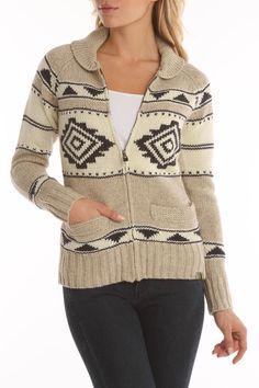 Motif Sweater Cardigan