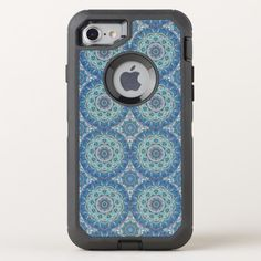 Colorful abstract ethnic floral mandala pattern OtterBox defender iPhone 8/7 case