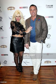 Patti and Ron Marinari attend Mob Wives 'The Last Stand' Season 6 Viewing Party at Funky Monkey Lounge on January 13, 2016 in Staten Island, New York.
