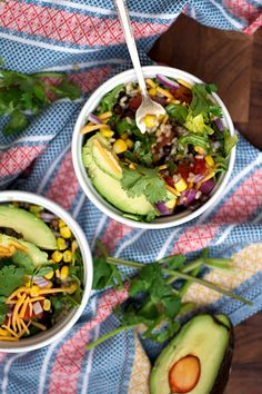 Mexican Fiesta Rice Bowls - The Realistic Nutritionist