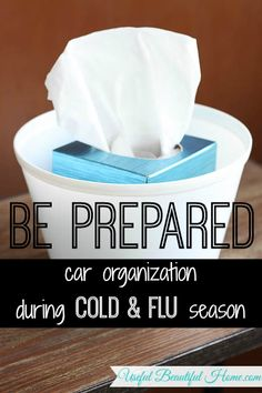 Car Organization During Cold and Flu Season at I'm an Organizing Junkie blog