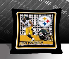 Pittsburgh Steelers NFL Troy Polamalu Toss Pillow