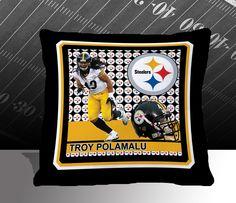 Pittsburgh Steelers NFL Troy Polamalu Toss Pillow