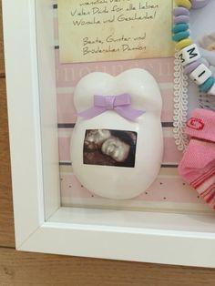 Birth shadow box, Baby Erinnerungsrahmen, Bea's Plüschgips, www. Shadow Box, Having A Baby, Baby Ideas, Birth, Baby Box, Diy Baby, Keepsakes, Kids, Home Decor