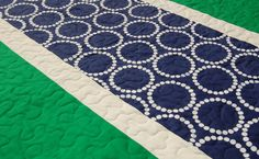 Modern Baby Quilt  Navy Blue and Kelly Green by kellyandnavy, $89.00