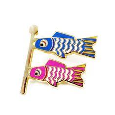 Fish Flag Emoji Pin