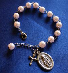 Religious St Peregrine  Saint Medal Charm Bracelet