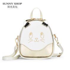 SUNNY SHOP kawaii Carton Women Backpck For Girls School Bag For Teenage Girls women's bag backpacks mini cute animals bagpack #Affiliate