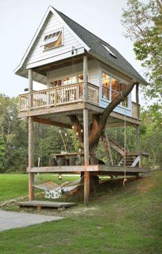 Treehouse in Wisconsin