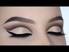 Champagne Gold Cut Crease Tutorial - YouTube