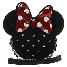 Disney Minnie Mouse Die Cut Quilted Crossbody Chain Bag Purse by Loungefly