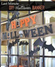Last Minute DIY Halloween Banner via @houseontheway