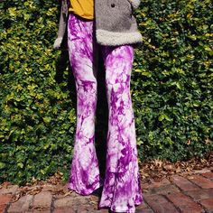 Tie Dye Eivah Bell Bottoms Find Eivah bells Niamh bells and soon a black & white pair on the Etsy store #flarestreet #flares #boho #hippy #gypsy #tiedye #wanderlust #gypsydream #sixties #seventies #vintage #retro #style #fashion #glam #etsy #independent #melbourne #label