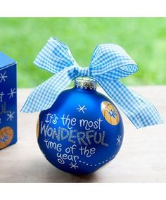 UK Basketball in the Bluegrass! UK Most Wonderful Time of the Year Ornament.