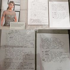 "Top 100 taylor swift quotes photos Taylors notes when she wrote ""22."" Displayed at the Taylor Swift Experience at the Grammy Museum in LA, 2015. Photos taken by @starlight_lane #taylorswift #taylorswift13 #taylornation #swiftie #taylorswiftquotes #taylorswiftlyrics #taylorswiftvideo #taylorswiftstyle #taylorswiftedit #taylorswift #swifties #taylurking #tayloralisonswift #taylorswift1989..."