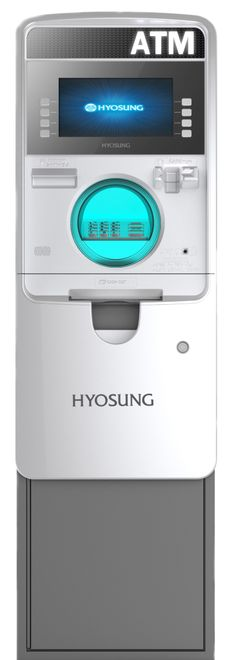 Hyosung Halo ATM Machine. As Low as $2025.00 when On Sale. 10.1″ LCD Color Display. Microsoft Windows, 4 Languages – English, Spanish, French & Korean, 1000 Note Cassette, DIP Card Reader with EMV Option, ADA Compliant, Receipt Paper Included, 12 Month Warranty, Free Shipping*
