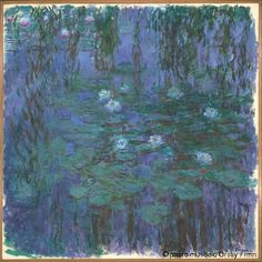 Claude Monet  Nympheas bleus  entre 1916 et 1919  Musee d'Orsay, Paris