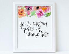 Custom Hand lettering Order Handlettering Custom Floral   Etsy