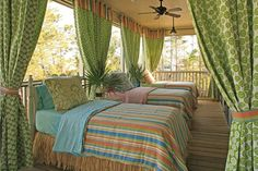 What an incredible sleeping porch.  It definitely makes me think about my summers in the south.