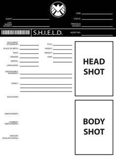 S H I E L D Application Form Marvel Agents Of Shield