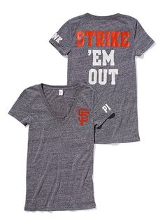 "Is three SF Giant's shirts too much? I already have ""My heart belongs to the Giants"" and the ""Meet me in the dugout""..."
