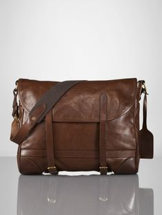 Deerfield Vachetta Mailbag - leather bag mens fashion