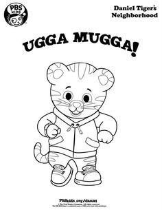 free printable daniel tiger coloring pages - coloring daniel tiger 39 s neighborhood pbs kids