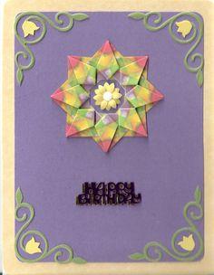 Birthday Card With Jewel-fold Tea Bag Medallion