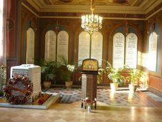 Romanov family remains in their final resting place. Saint Petersburg, Russia