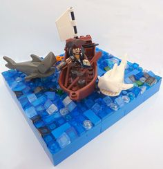 When Sharks Attack.... by MinifigNick, via Flickr