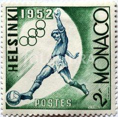 Monaco 1952 Olympics postage stamp.