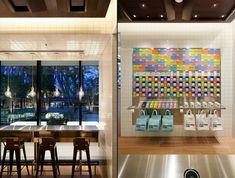 100% Chocolate Cafe.   Sky Tree Solamachi by Wonderwall, Tokyo  store design