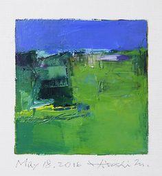 may182016   Oil on canvas 9 cm x 9 cm © 2016 Hiroshi Matsumoto www.hiroshimatsumoto.com
