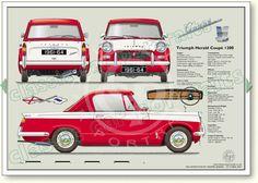 Triumph Herald Coupé 1960-64 classic car portrait print