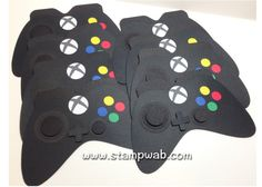 Video Game Controller Die-Cuts black - for centerpieces Xbox Party, Game Truck Party, Game Party, 13th Birthday Parties, 20th Birthday, Birthday Party Themes, Video Game Bar, Bar Mitzvah Invitations, Game Themes