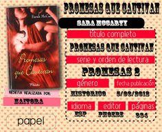 Locas del romance: PROMESAS QUE CAUTIVAN (PROMISES #2 SARA McCARTY)