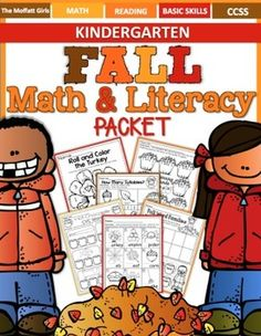 This Fall Math and Literacy Packet has it all and requires NO PREP!   The resources in this packet are designed to meet Common Core standards for Kindergarten, and make learning fun, hands-on and interactive with a fall theme!    We also have the following NO PREP Packets: ***SAVE BIG WITH: ***ALL YEAR Math and Literacy NO PREP KindergartenFall Math and Literacy (Kindergarten)October NO PREP Math and LiteracyFall Math and Literacy (First Grade)Winter Math and Literacy (Kindergarten)Winter…