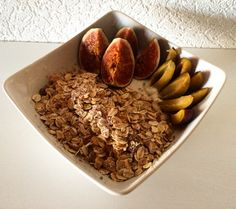 Chia-Yoghurt-Granola-Bowl  with fresh fruits and almond butter on top