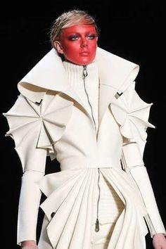 WHITE avant garde   Futuristic Felt Fashion - Avant-Garde Viktor & Rolf Coats are Woollen ...