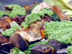 grilled swordfish kabobs with fresh herb pesto sauce grilled swordfish ...