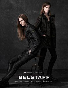 """femalemodels: """" Sara Blomqvist and Caroline Brasch Nielsen for Belstaff, Pre-Fall 2014. """""""