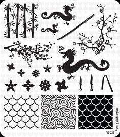 Nail Art Stamping Plate VL 022 by VividLacquer on Etsy, $8.00