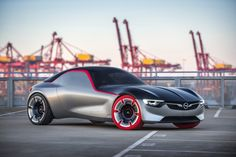 General Motors has announced their latest concept Opel GT. This looks like modern version of the iconic sports car built around early Opel GT concept car General Motors, Opel Gt Concept, Buick, Los Cars, Convertible, Jaguar E Typ, Geneva Motor Show, Rear Wheel Drive, Car And Driver